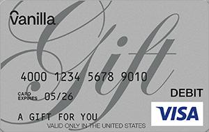 Vanilla® eGift Visa® Virtual Account