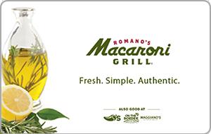 Romano's Macaroni Grill Gift Card