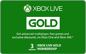 Xbox Live Gold 3 Months Gift Card
