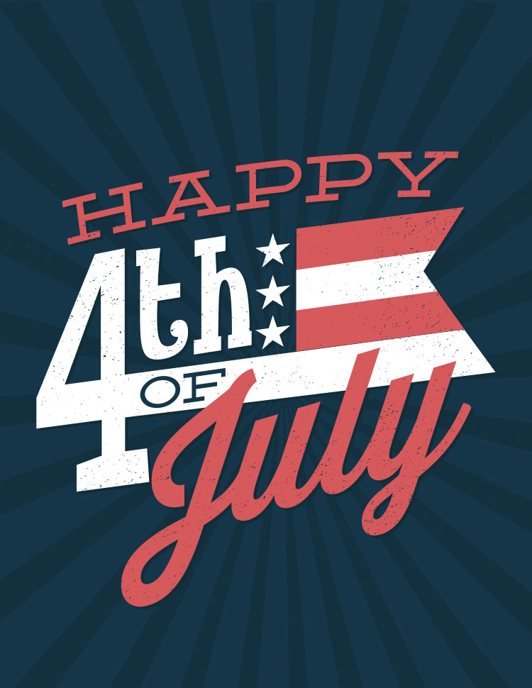 Happy Fourth Of July In Red White And Blue, Blue B