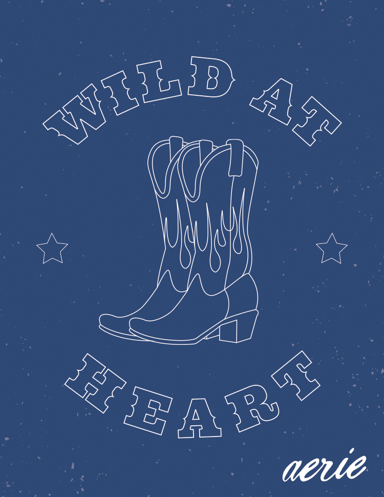 Aerie WILD AT HEART Greeting