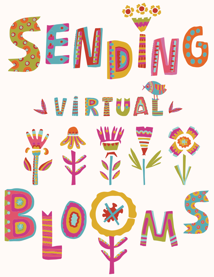 Greeting_Sending Virtual Blooms