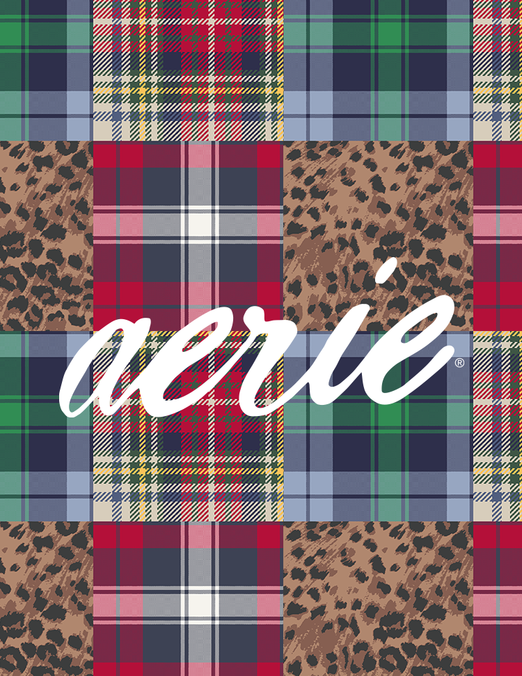 aerie Plaid Greeting