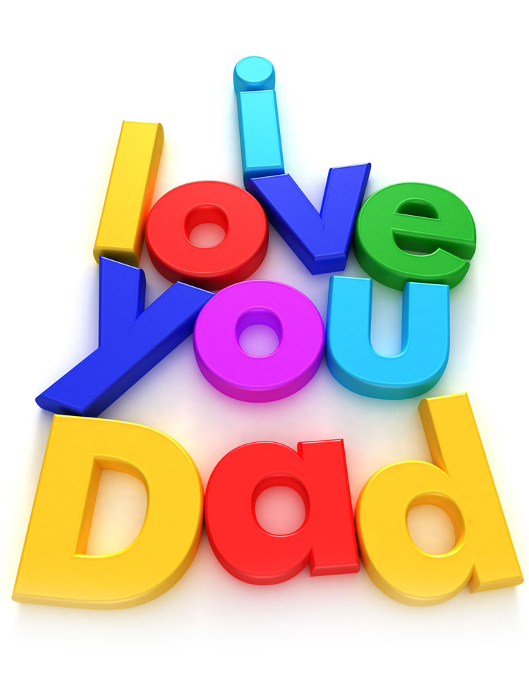 I Love You Dad Written With Colorful Toy Letters