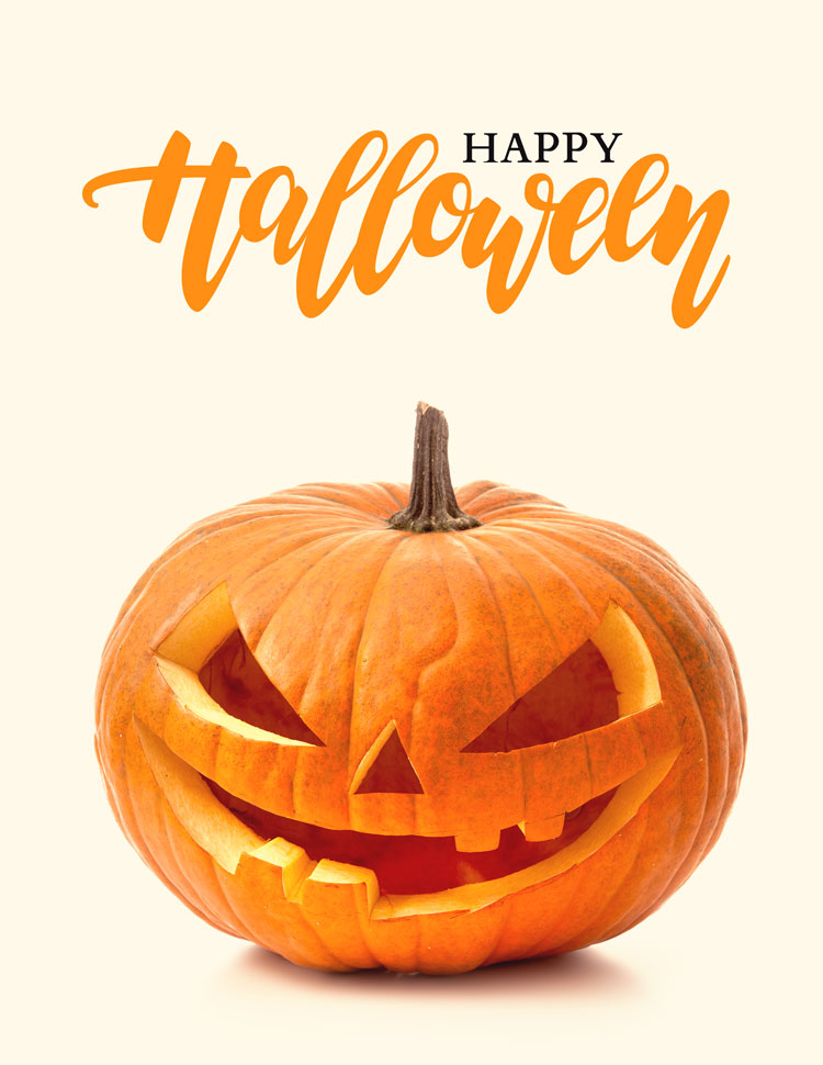 Happy Halloween Spooky Jack O Lantern