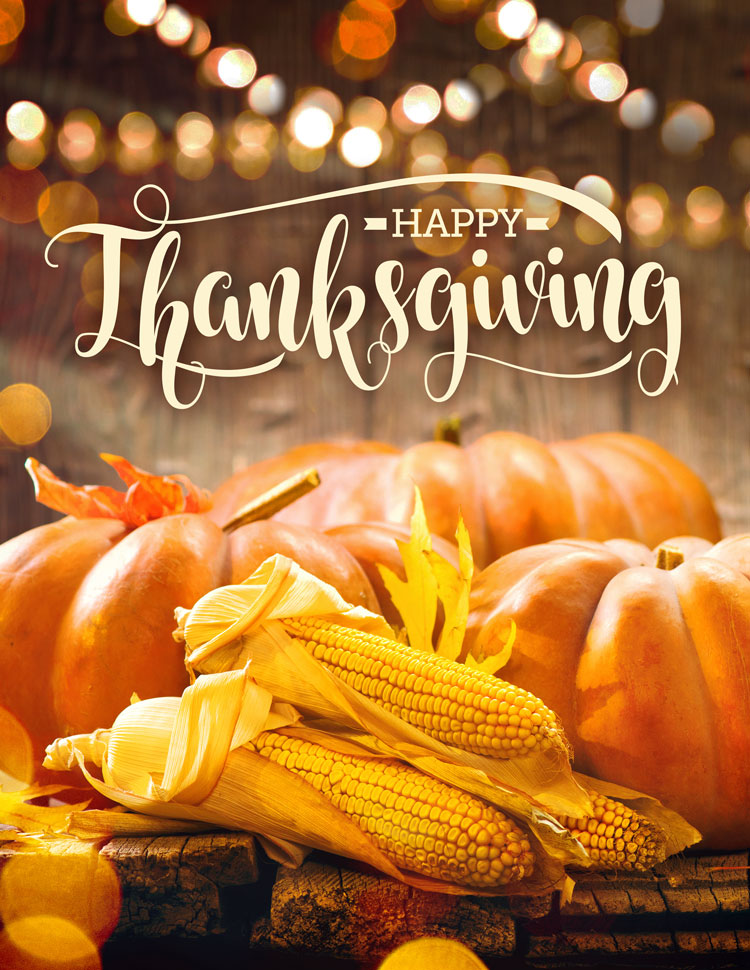 Happy Thanksgiving In A Fall Harvest Setting